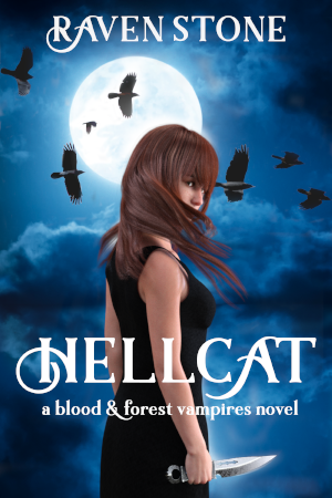 book cover for hellcat a blood and forest vampires novel