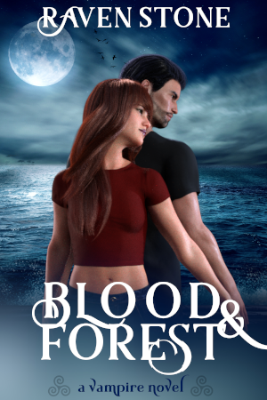 book cover for blood and forest by raven stone - image is blog post size