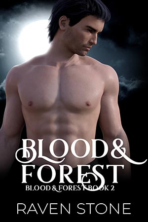 book cover for blood and forest by raven stone